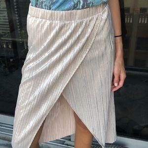 Top shop metallic wrap skirt